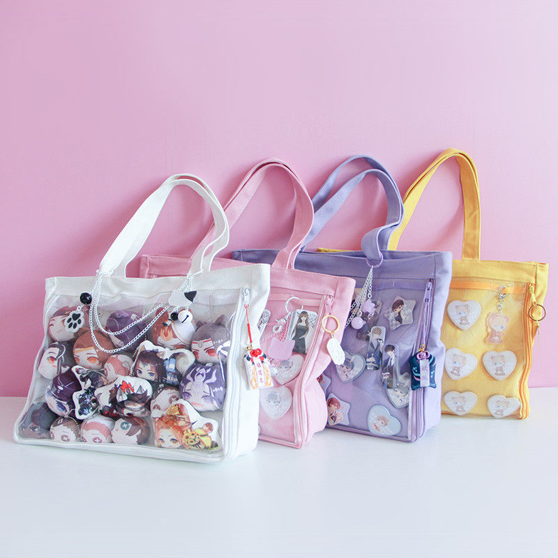 Japanese Sweet Lolita Small Fresh Harajuku Canvas Handbag Shoulder Bag JK Itabag Cosplay