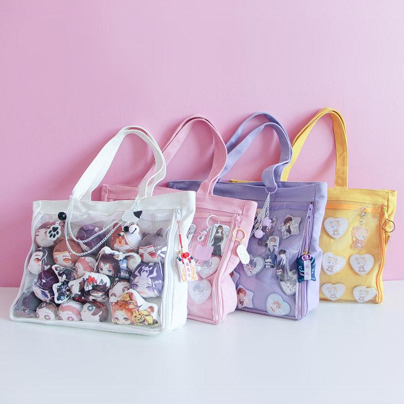 Japanese Sweet Lolita Small Fresh Harajuku Canvas Handbag Shoulder Bag JK Itabag Cosplay