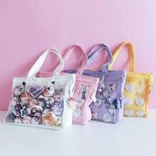 Japonês doce lolita pequeno fresco harajuku lona bolsa de ombro jk itabag cosplay