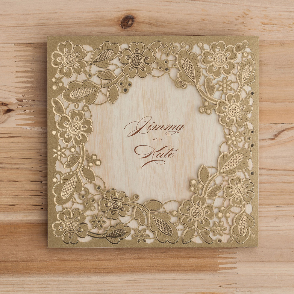 Aliexpress Buy Wishmade Laser Cut Embossed Red Gold White Lace