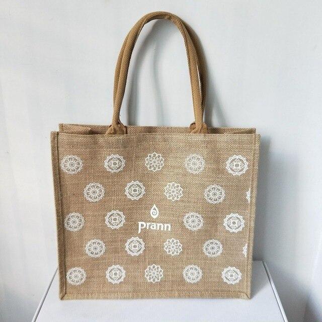 1a5dc0fee Venta al por mayor 500 unids/lote logotipo impreso personalizado  reutilizable plegable arpillera bolsas de