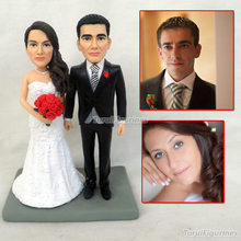 polymer clay handmade sculpting dolls love topper cake miniature christmas figurines mini