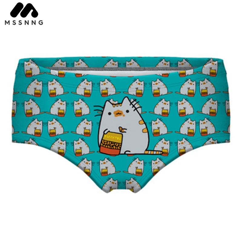 MSSNNG Cute Printed Cat Summer Swimming Trunks Women Beach Pants Bathing Suit Girls Swim Shorts Swimwear Swimsuit Blue