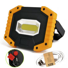 3 Modes Portable COB Lights USB Rechargeable Led Light High Power Camping Lantern AA/18650 Flashlight for Fishing(NO Battery)(China)