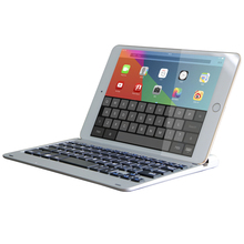 Keyboard For iPad Pro 12.9 Tablet Thin Flip Stand Removable Wireless Bluetooth Aluminum Keyboard PU Leather For iPad Pro 12.9