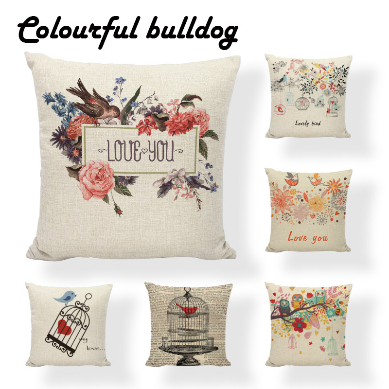 Accent Pillow Sweet Home Newspaper Print Forest Birdcage Cushion Cover Scandinavian Party 18 Houseware Decorative Throw Pillow Accent Pillows Cushion Coverthrow Decorative Pillows Aliexpress