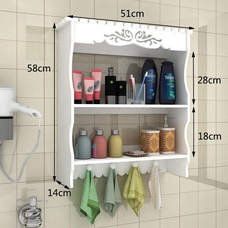 Simple Fashion Bathroom Storage Shelf Wall Mounted Toilet Storage ...