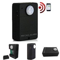 Anti diefstal Bewegingsmelder Mini GSM PIR Alarm Motion Sensor Alarm Infrarood Draadloze GSM Alarm Met EU Plug Hoge gevoeligheid-in Sensor en detector van Veiligheid en bescherming op