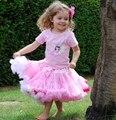 Девушки юбка младенца супер пушистые chindrens белый с розовым мягкий балета туту дети детские пушистый pettiskirts Бесплатная доставка