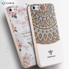 For iPhone 5s 6s Case Luxury Transparent Soft TPU 3D Relief Print Back Flip Cover Phone Bag For iphone 5 5s SE  Hot New Style
