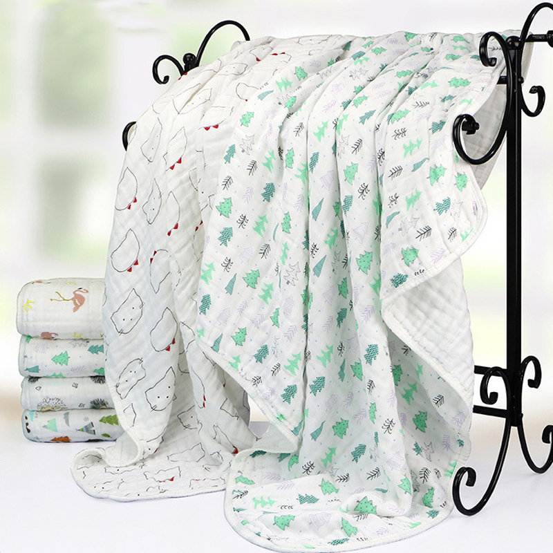 Baby Blanket Bedding 110cm Newborn Muslin Cotton Swaddle Wrap Kids 6 Layers Thick Receiving Blanket Gauze Bath Towel Baby Boys newborn 100% cotton baby blanket infant muslin kids soft bath shower towel baby gauze swaddle receiving blankets 110cm 110cm