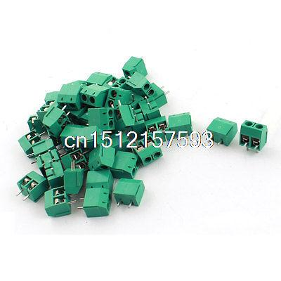 50Pcs 300V 15A 2 Way PCB Board Screw Terminal Block Connector 5mm Pitch high quality 10 sets ht5 08 2 3 4 5 6 7 8pin terminal plug type 300v 10a 5 08mm pitch connector pcb screw terminal block
