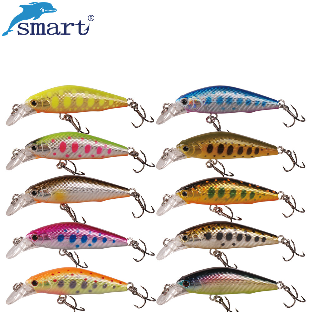 2017 smart fishing lure 62mm minnow bait sinking for Best fishing lures 2017