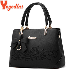 Image 2 - Yogodlns Women Bag Vintage Handbag Casual Tote Fashion Women Messenger Bags Shoulder Top Handle Purse Wallet Leather 2020 New
