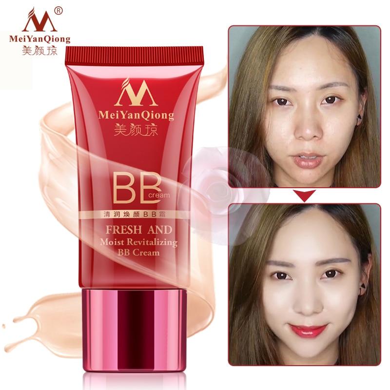 MeiYanQiong Fresh And Moist Revitalizing BB Cream Makeup Face Care Whitening Compact Foundation Concealer Prevent Bask Skin Care bask peak v2
