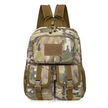 Computadora del estudiante bolsa táctica de camuflaje al aire libre solo bolso de hombro paseo mochila asalto táctico paquete de vacaciones de camping bolsa