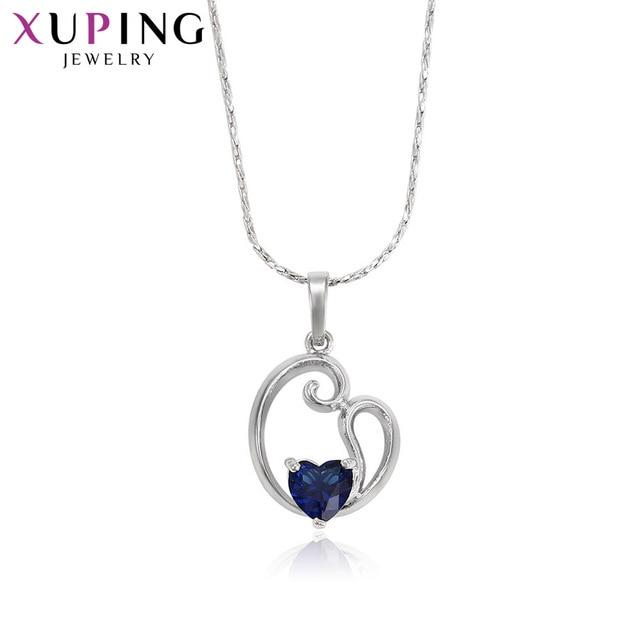 Xuping ファッションペンダントブルー石環境銅の宝石母の日ギフト M35-30081