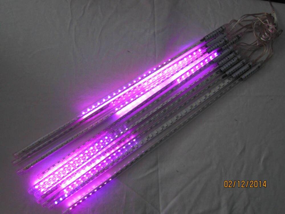 10sets/lot SMD5050 warm white red green double side led meteor shower lights led tube 12 * 500 mm10 pcs/set 48 leds/pc