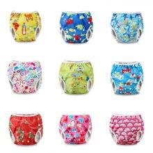 Летний купальный водонепроницаемый подгузник штанишки для подгузников многоразовые регулируемые детские для маленьких мальчиков и девочек