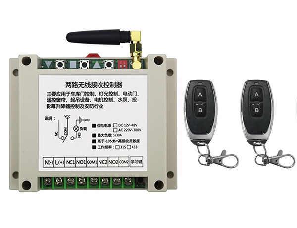 DC12V 24 V 36 V 48 V 2CH RF Беспроводной дистанционного Управление реле безопасности Системы гаражные ворота, электрические двери/окна/современный потолочный светильник