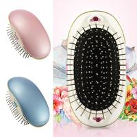 Portable Electric Ionic Hairbrush Mini Small Straight Hair Magic Beauty Brush Comb Massage Tool Home Travel Using
