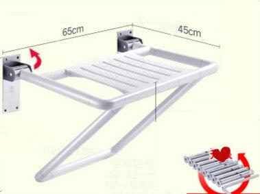 Multifunzionale bagno pieghevole doccia sedile sgabello sedia parete