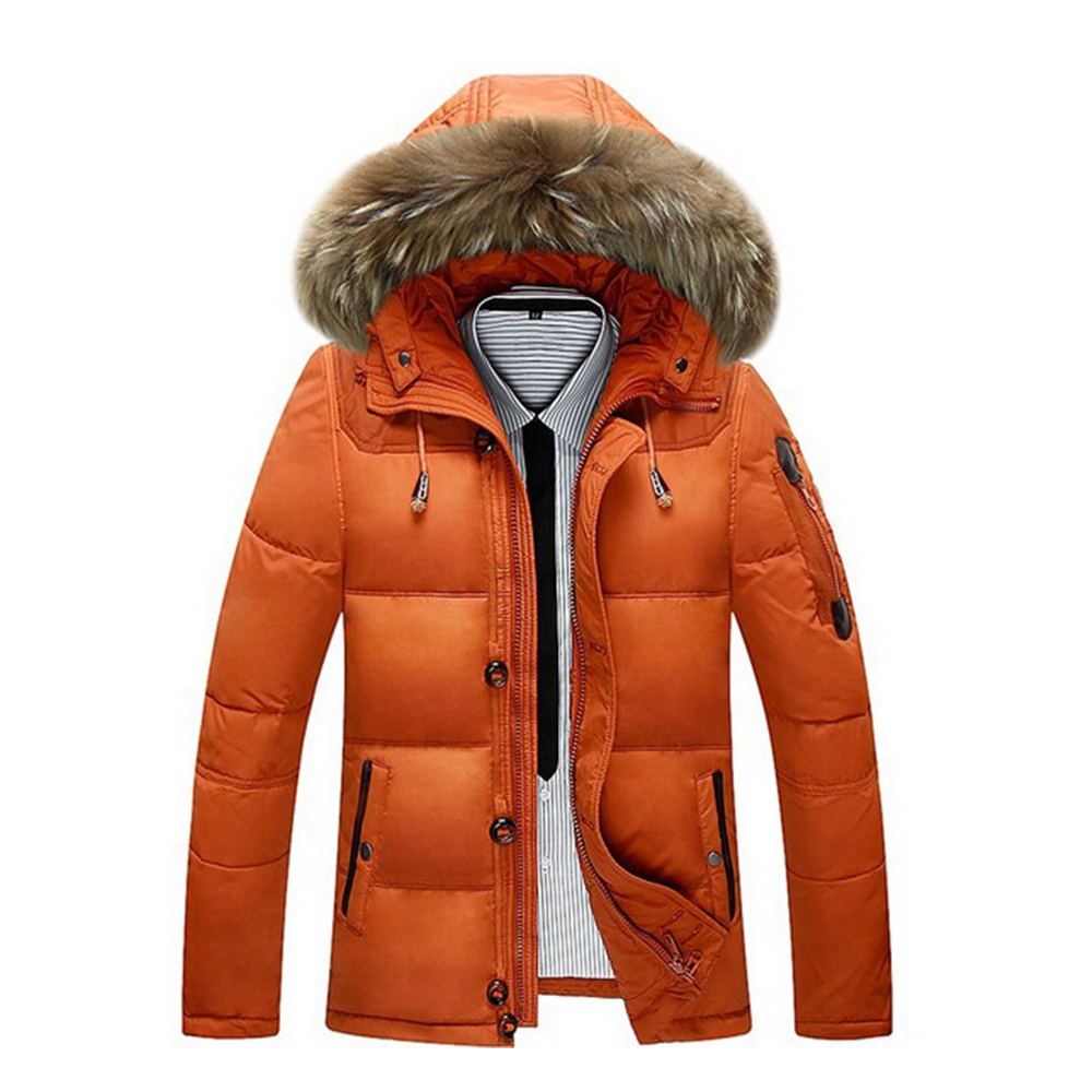 L2 New Fashion 2018 Men's Winter Jacket -30 Degree Snow Outwear Men Warmth Thermal Hooded Snow   Coats   Male Solid   Down     Coats   M-3XL