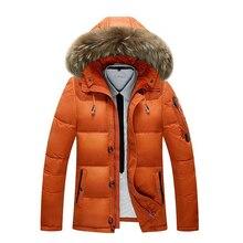 L2 Новая мода 2018 Для мужчин; зимняя куртка-30 градусов зимняя верхняя одежда Для мужчин тепло Термальность с капюшоном зимние пальто мужской сплошной вниз пальто M-3XL