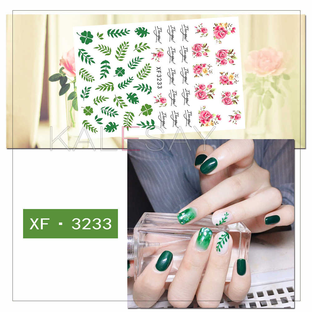 Fashion Nail Stickers Self Adhesive Design Lavender Nail Decals Manicure Art  Avocado Sticker on Nails Decoration Foil Tips