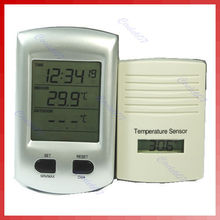 Cheaper New Digital Clock indoor outdoor Wireless Thermometer
