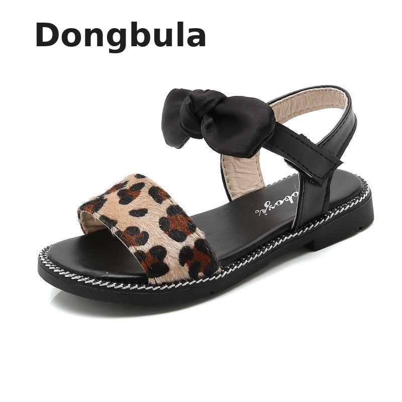 2019 été enfants sandales pour filles fête chaussures enfants plage petites grandes filles bout ouvert plat perle sandales mode confortable