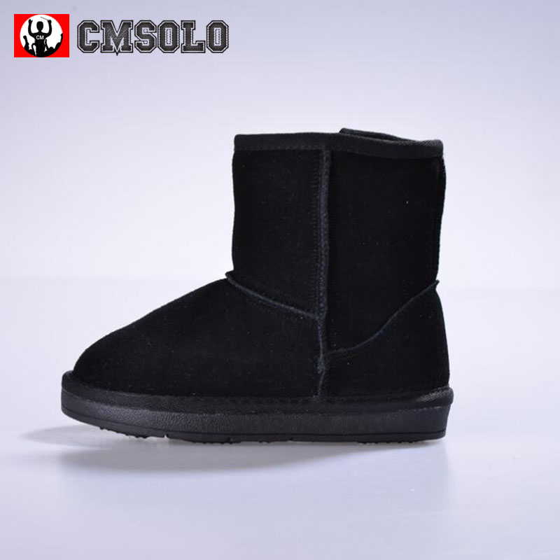 CMSOLO Snow Boots Winter Warm Boot Girls Boys Plus Fluff Fur Children Fashion Brown Black Kids Comfortable New Outdoor Snow Boot new winter children snow boots boys girls boots warm plush lining kids winter shoes