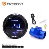 """CNSPEED 2 """"52 MM niebieska dioda Led cyfrowy miernik temperatury wody 40-150 stopni celsjusza z termometr do wody wspólne rury Adapter czujnika 1/8NPT"""