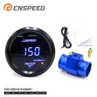CNSPEED 2'' 52MM Car Digital Blue Led Water Temperature Gauge 40-150 Celsius With Water Temp Joint Pipe Sensor Adapter 1/8NPT