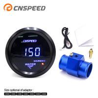 Free Shipping CNSPEED 2''52mm Auto Water Temperature Gauge 40 150 Celsius With Water Temp Joint Pipe Sensor Adapter