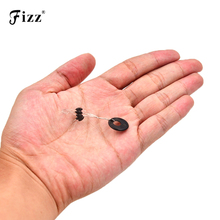 цена на 100pcs Fishing Space Beans 6 In 1 Fishing Float Connector Steel Wire Rubber Fishing Space Bean Accessories Tackle Dropshipping