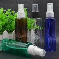 6 ps/lot Vide Ambre Clair Vert bleu en plastique bouteille 500 ml avec fine brume de pulvérisation