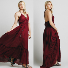 Halter Flowy Pageant Womens Bridesmaid Evening Gown Formal Party Maxi Dress Long mesh checkered flowy dress