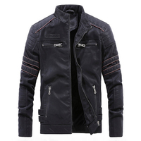 Besting Sale Exported to Europe and America Men Leather Suede Jacket Fashion Embroidery Motorcycle Leather Jacket Male Outerwear