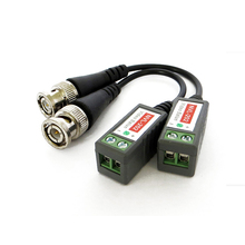 AHWVSE 2pcs 3000FT Distance UTP Video Balun Twisted CCTV Balun Passive Transceivers BNC Cable Cat5 CCTV Adapter