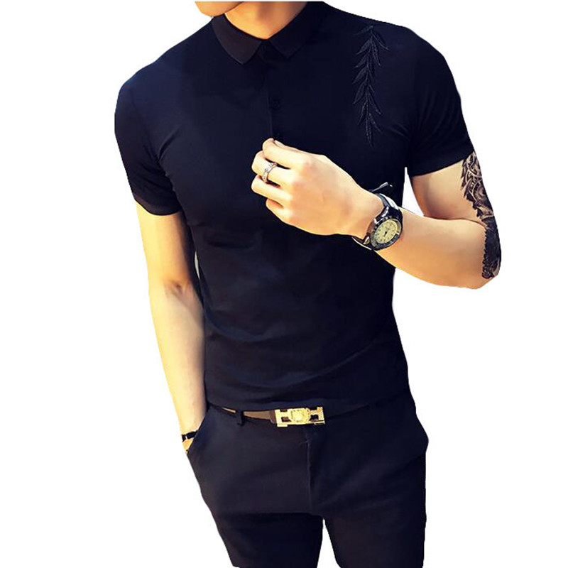 2019 Men's   POLO   Shirts Brand pure Cotton Short Sleeve Camisas solid embroidery   Polo   Summer slim fit Male   Polo   Shirts S-XXXL