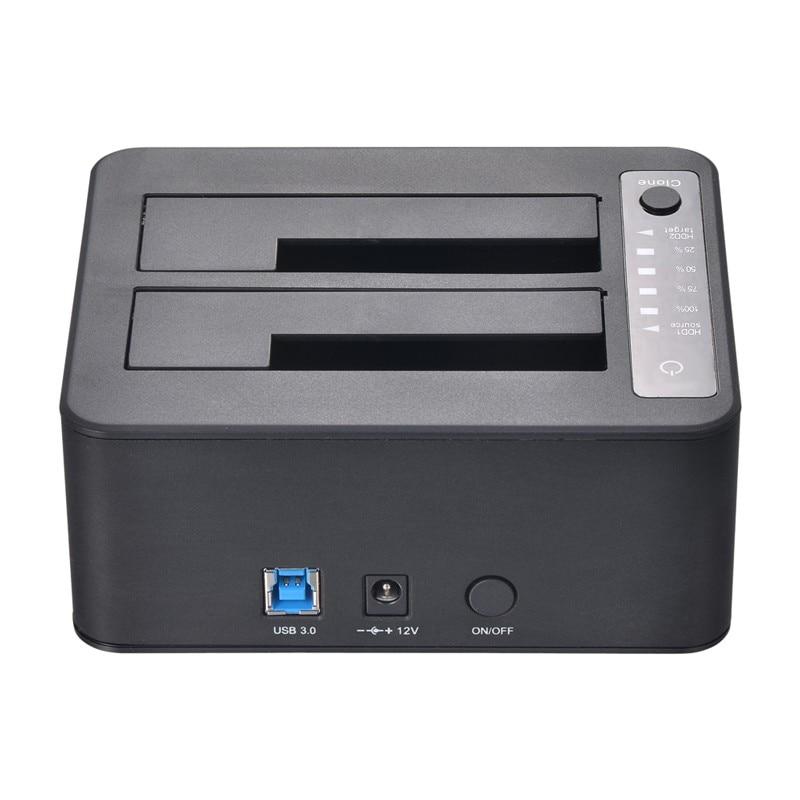 Uneatop UT5520B USB 3.0 to Dual SATA III (6Gbps) Clone Docking Station HDD Copier Duplicator with offline Clone Function корпус для hdd orico 9528u3 2 3 5 ii iii hdd hd 20 usb3 0 5