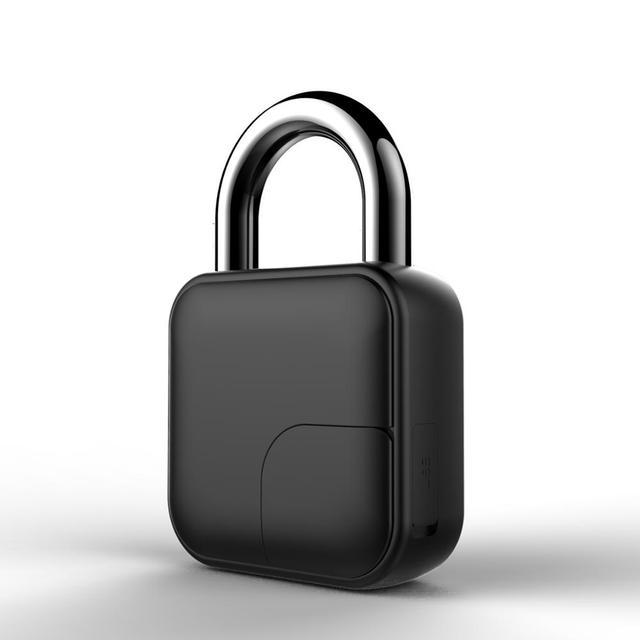 Usb rechargeable smart lock keyless fingerprint lock ip65 waterproof anti-theft security padlock door luggage case lock fll3 2