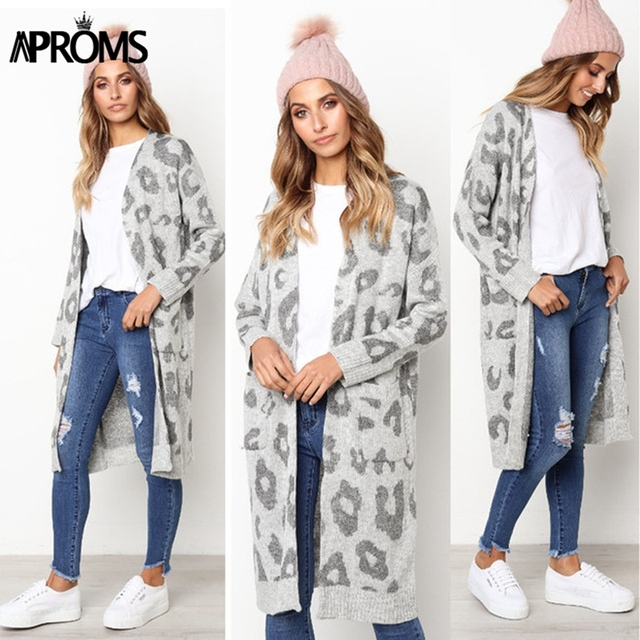 Aproms Leopard Print Knitted Sweater 2