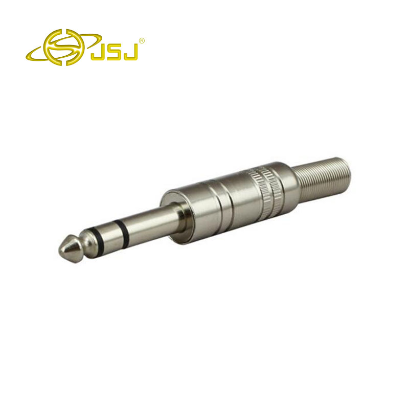 JSJ 6.35 dual-channel welding male three-pin 6.5 microphone cable mixer microphone plug