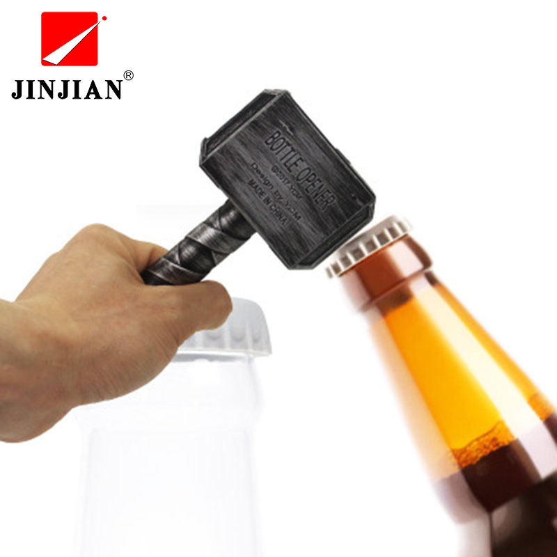 JINJIAN Beer Bottle Openers Hammer of Thor Shaped Bottle Opener Wine Corkscrew Beverage Wrench Jar Openers For Dinner Party Bar