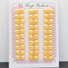 цена на Yellow Button pearl natural pearl 3mm -- 12mm Yellow color button pearl