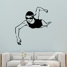 Beauty  Swimming Waterproof Wall Stickers Art Decor Home Children House Decals muursticker