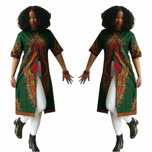 4937fc22c184 € 25.18  Nouveau Chemisier 2016 Africain Ethnique Imprimer Style Long  Chemisier Frais chemise Femmes Tunique Corps Chemise Femme Peplum Femmes  Tops ...