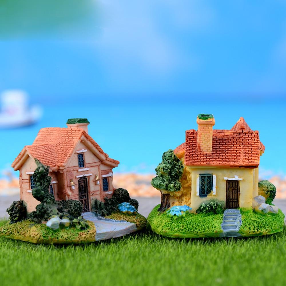 Miniature Dollhouse Mini Vintage Clock Garden Fairy Bonsai Plant Landscape ♫